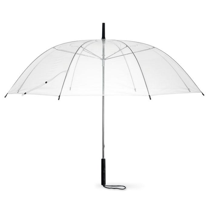 Ομπρέλα-διάφανη-PVC-οκτώ-φύλλων-με-μαύρη-χορδή-στη-λαβή