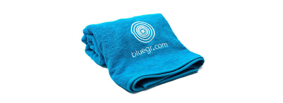 Πετσέτα βαμβακερή με κέντημα