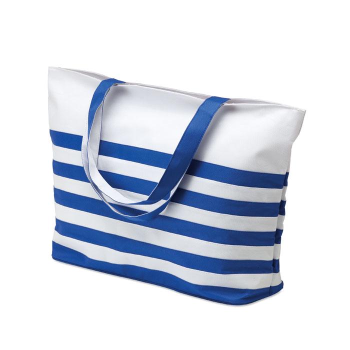 Τσάντα θαλάσσης με λωρίδες και μακριά χερούλια