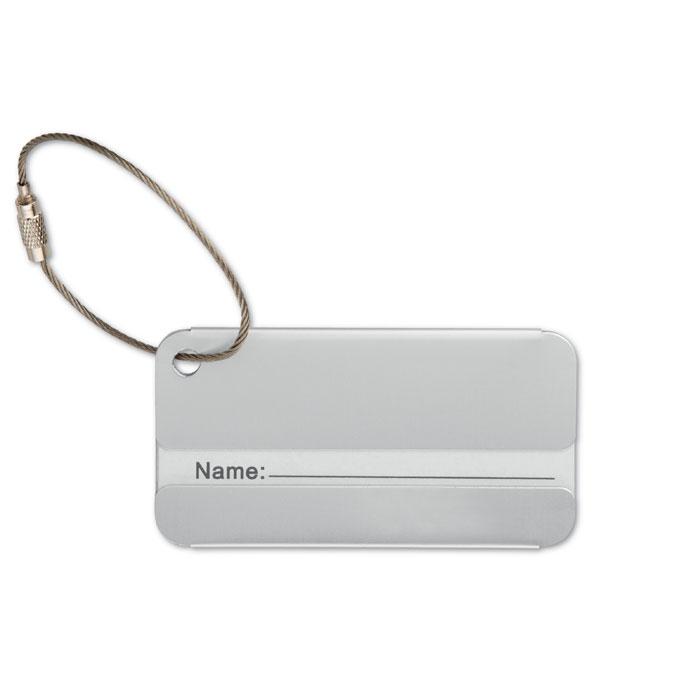 Luggage tag αλουμινίου με ειδικό σύρμα για καλύτερη εφαρμογή στην βαλίτσα