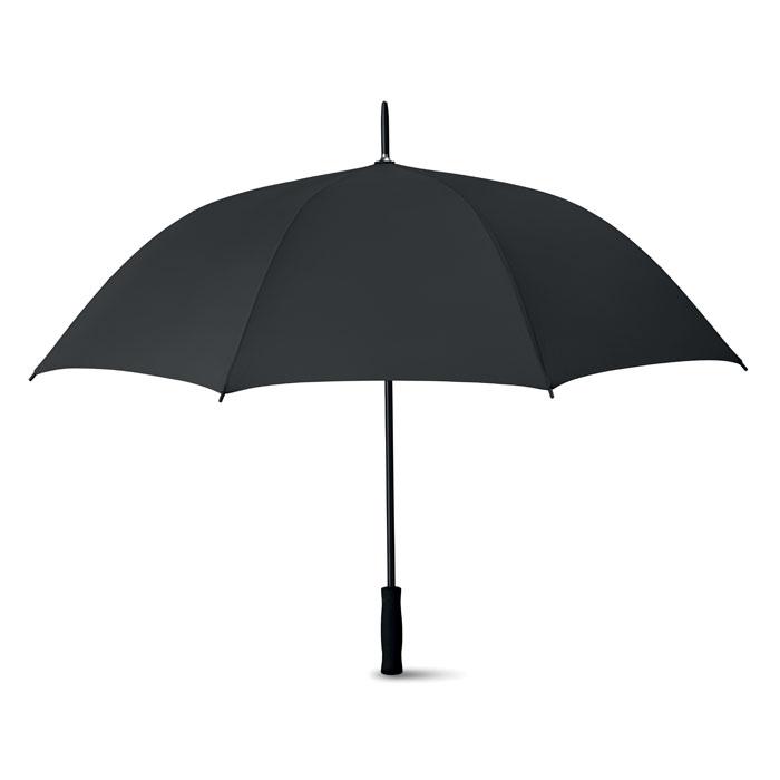 Ομπρέλα αυτόματη με μαύρο μεταλλικό άξονα και μαύρο χερούλι EVA
