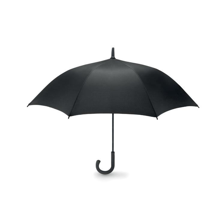 Ομπρέλα χειροκίνητη με μαύρο μεταλλικό άξονα και πλαστική λαβή