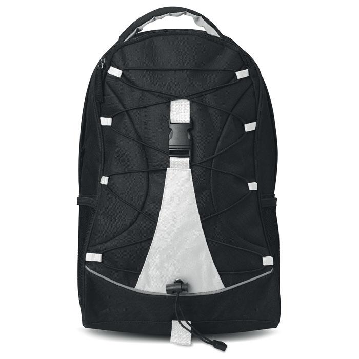 Σακίδιο πλάτης με φερμουάρ, κορδόνι στο μπροστινό μέρος και τσέπη μπροστά και πίσω