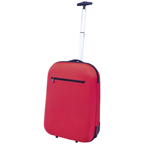 Τροχήλατη βαλίτσα με ροδάκια, εξωτερική θήκη με φερμουάρ, ιδανική για καμπίνα