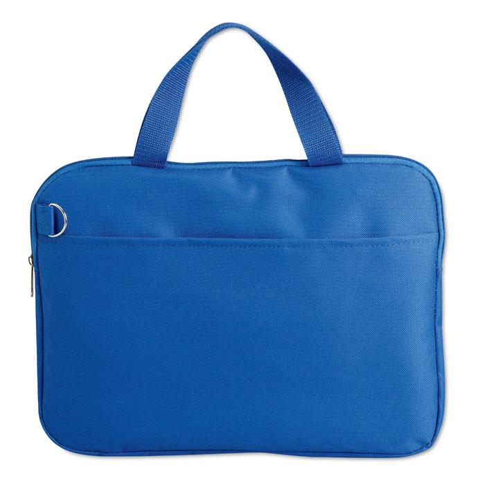 Τσάντα εγγράφων με μπροστινή τσέπη και χερούλι σε ασορτί χρώμα