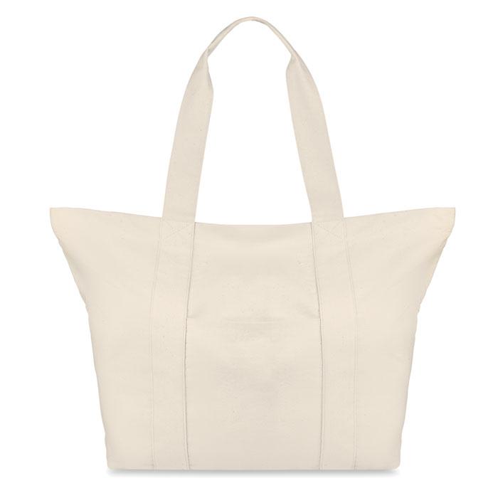 Τσάντα θαλάσσης canvas με εσωτερική τσέπη και κουμπί για εύκολο άνοιγμα