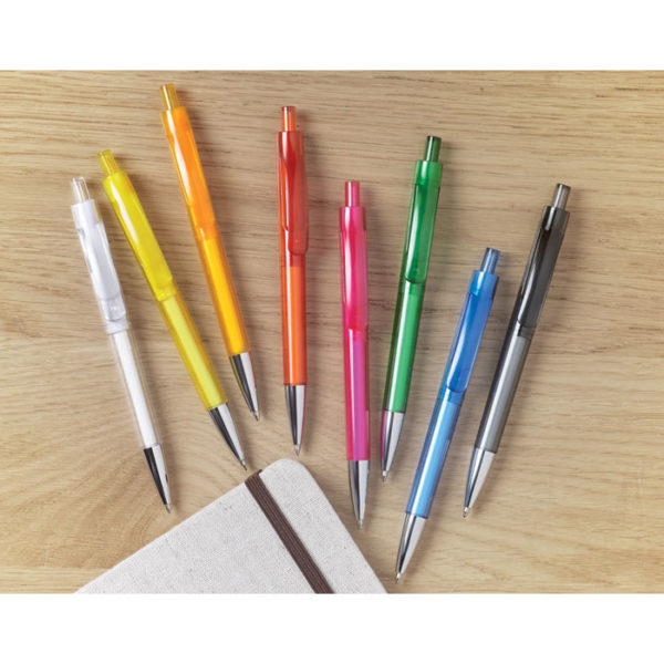 Πλαστικό στυλό με διαφανές σώμα – 8813