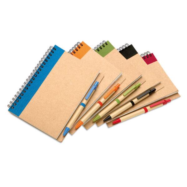 Σετ με kraft σημειωματάριο Α5 & στυλό – 3775