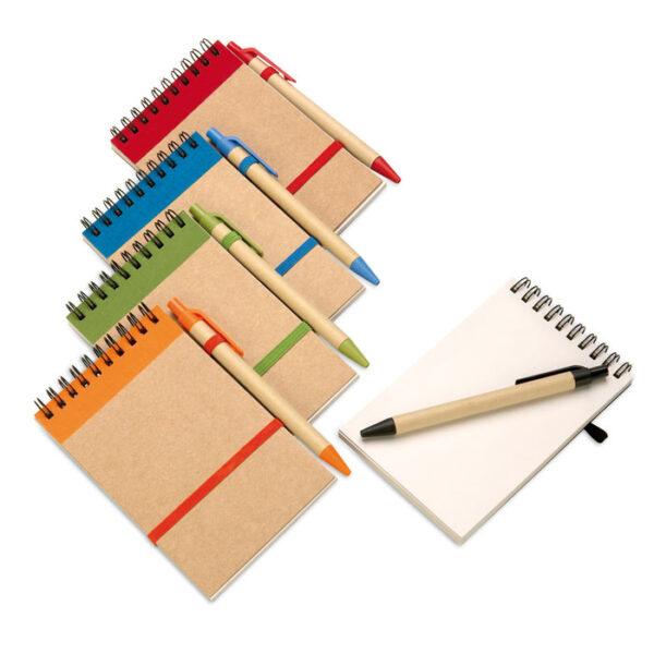 Σετ με kraft σημειωματάριο Α6 & στυλό – 3789