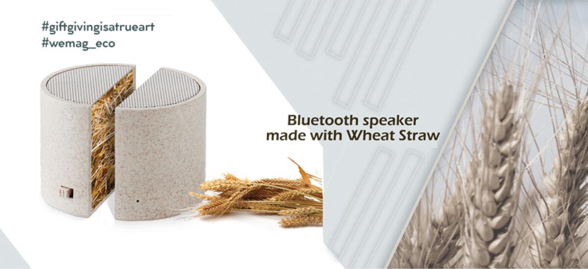 Επαγγελματικό δώρο - Bluetooth speaker made with Wheat Straw από την WE MAG