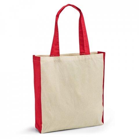 Τσάντα βαμβακερή με χρωματιστά χερούλια – 92879