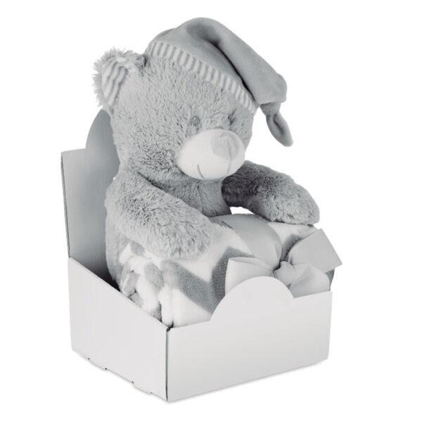 Λούτρινο αρκουδάκι με κουβέρτα – 9841