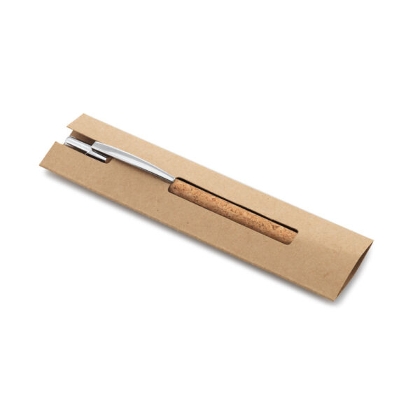 Στυλό απο φελλό σε kraft θήκη – 91647
