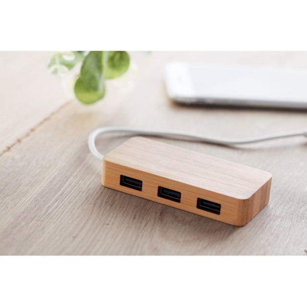 USB hub 2.0 απο bamboo με 3 θύρες – 9738