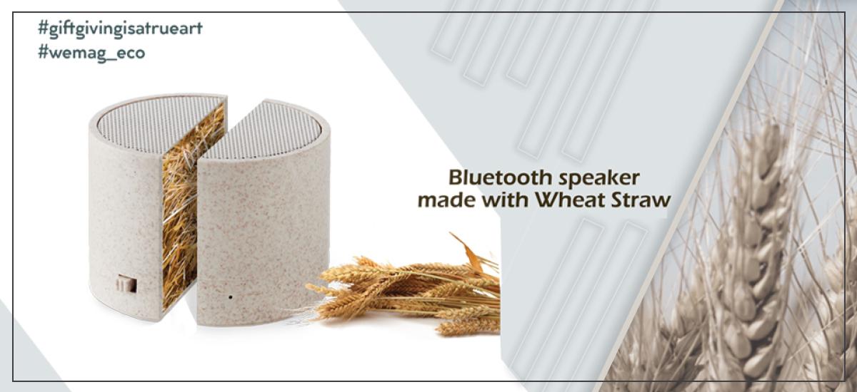Επιχειρηματικά δώρα - Bluetooth speaker made with Wheat Straw