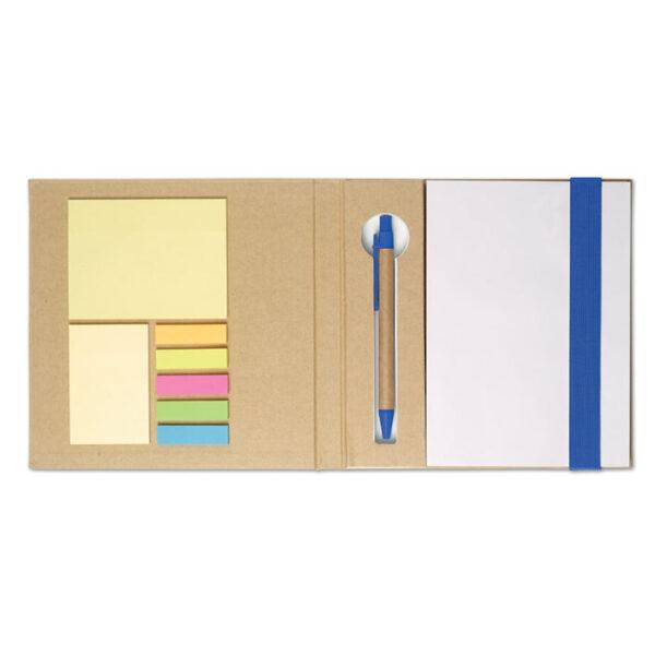 Οικολογικό σετ σημειωματάριο με sticky notes και στυλό – 8183