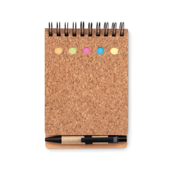Σετ με σημειωματάριο απο φελλό και στυλό – 9856