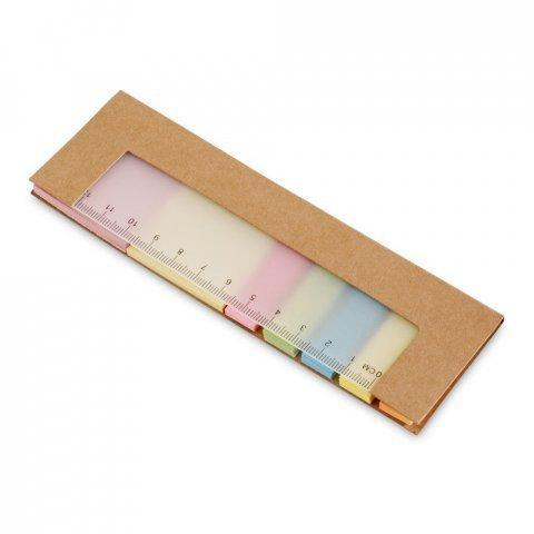 Σετ γραφείου με sticky notes & χάρακα – 93448
