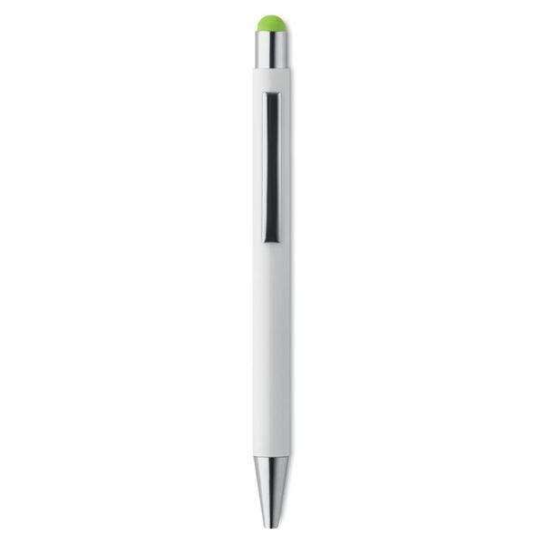 Στυλό αλουμινίου με χρωματιστό stylus – 9711