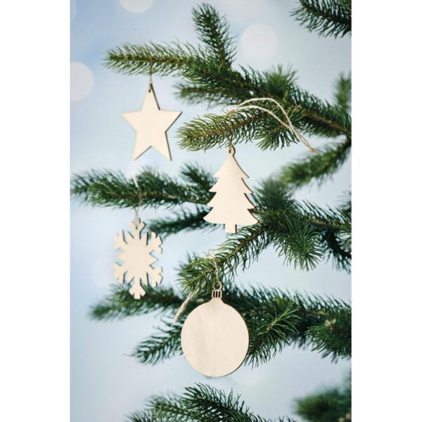 Χριστουγεννιάτικο ξύλινο στολίδι – 1473