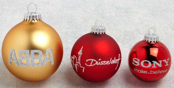 Γυάλινη Χριστουγεννιάτικη μπάλα – 1234