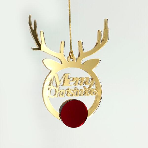 """""""Τάρανδος"""" Χριστουγεννιάτικο στολίδι απο plexiglass – 022"""