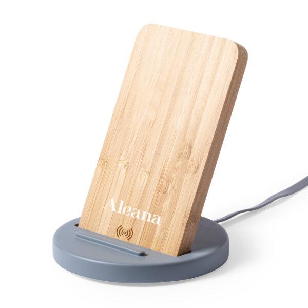 Ασύρματος φορτιστής απο bamboo & τσιμέντο – 6702