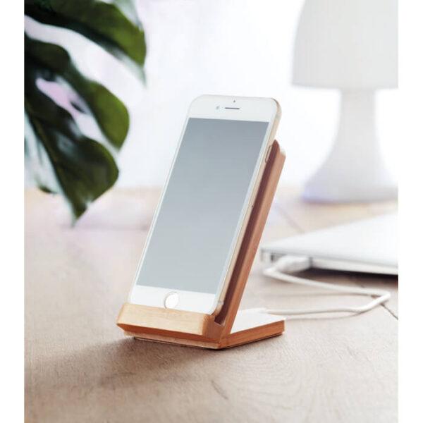 Ασύρματος φορτιστής – βάση κινητού απο bamboo – 9692