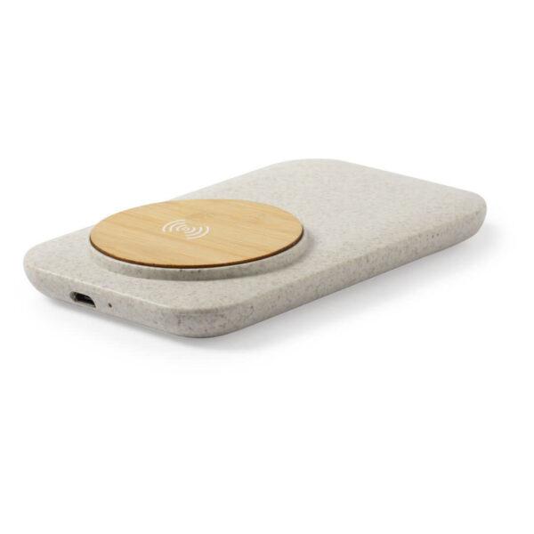 Ασύρματος φορτιστής απο άχυρο και bamboo – 6536