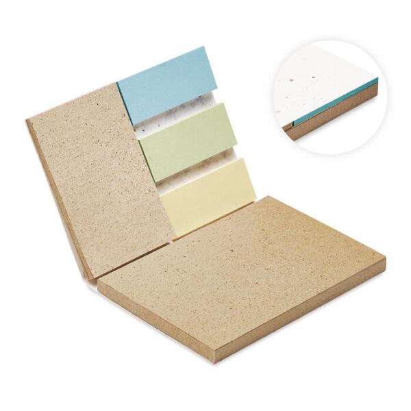 Σετ γραφείου με sticky notes απο γρασίδι – 6235