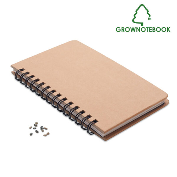 Χάρτινο σημειωματάριο με σπόρους πεύκου – 6225