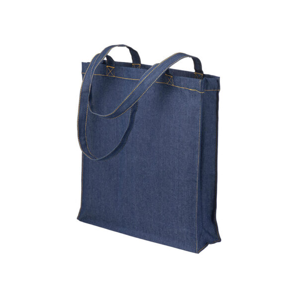 Τσάντα αγορών denim με πιέτα – 20140
