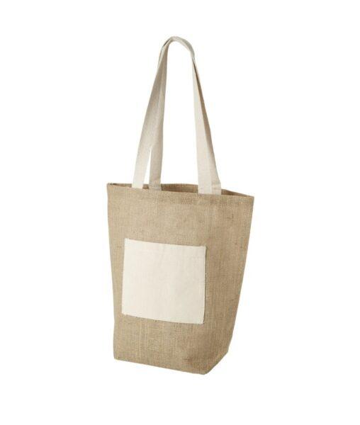 Τσάντα αγορών απο jute με βαμβακερή τσέπη – 11952