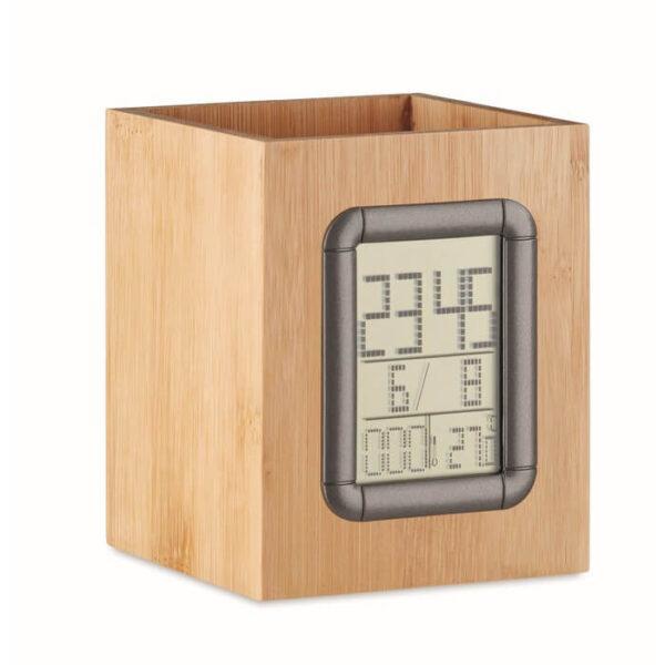 Mολυβοθήκη – ρολόι απο bamboo – 6289