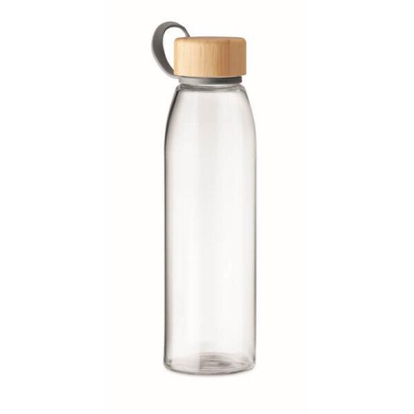 Γυάλινο μπουκάλι με καπάκι απο bamboo – 6246