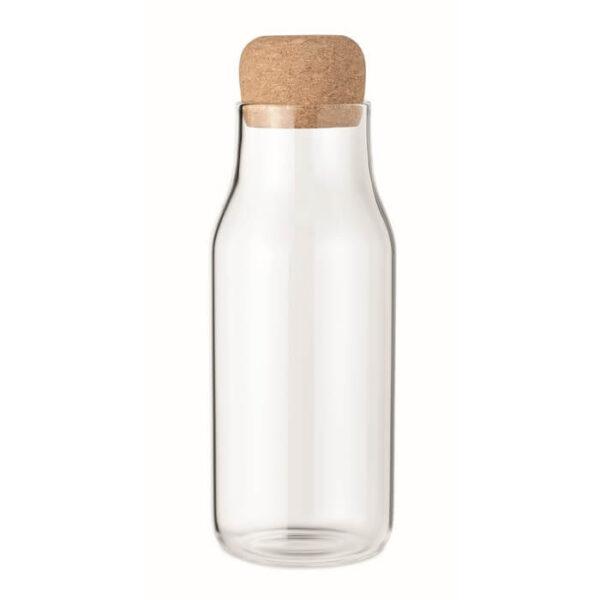 Γυάλινο μπουκάλι με καπάκι απο φελλό 600ml – 6284
